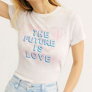 NWT Chaser Future Is Love Graphic Tee Shirt